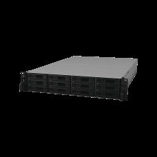 Servidor NAS para rack de 12 bahías / Expandible a 24 bahías / Hasta 288 TB / Hasta 40 cámaras