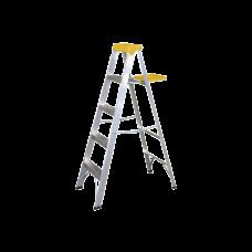 Escalera de aluminio tipo tijera, 4 peldaños de 1.54 metros