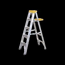 Escalera de Aluminio Tipo Tijera, 5 Peldaños de 1.83 metros.