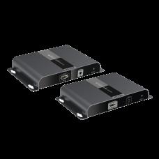 4K x 2K HDMI extensor sobre fibra óptica IP a 20Km, protocolo HDbitT, control IR , compatible con HDCP.